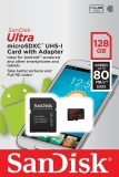 SanDisk microSDXC 128GB Ultra Android UHS-I + adaptér SDSQUNC-128G-GN6MA