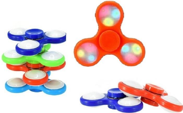 Fidget Spinner Fidget spinner s LED osvětlením červený
