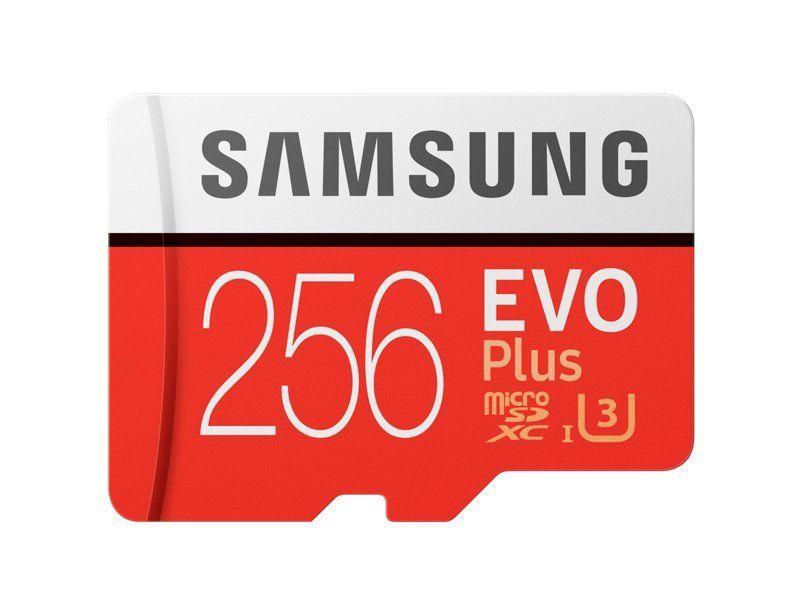 Samsung EVO+ microSDXC 256GB UHS-I U3 + adaptér MB-MC256DA/EU