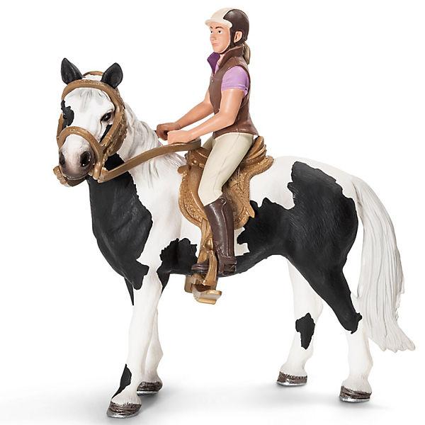 Schleich Postroj na koně s jezdkyní