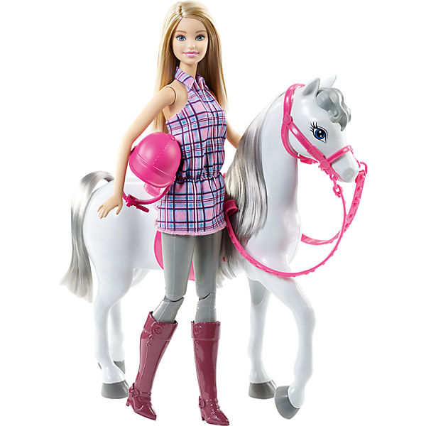 Mattel Barbie panenka s koňem DHB68