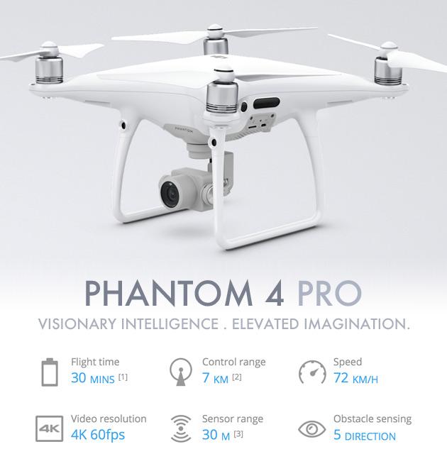 Profi kvadrokoptéra DJI Phantom 4 Pro RtF s kamerou a GPS