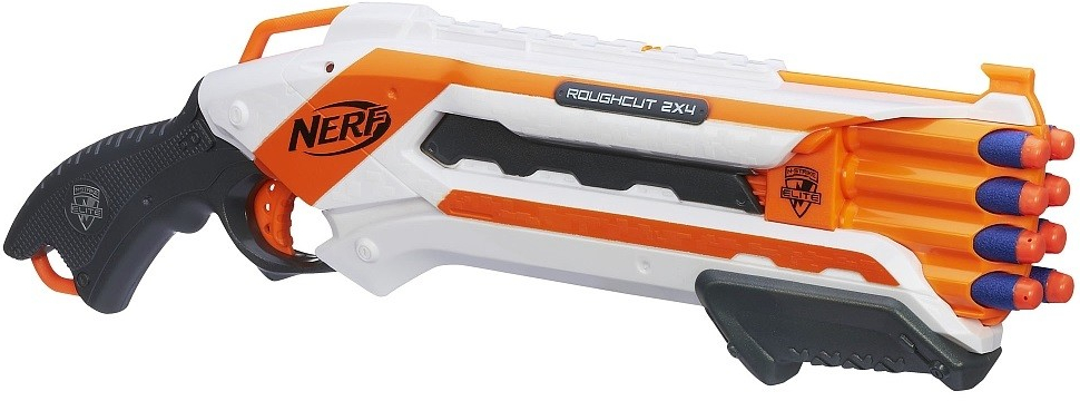 Hasbro 4776626 Nerf Pistole N-strike Elite ROUGH CUT 2x4