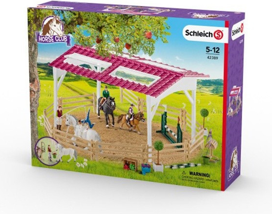 Schleich 42389 Jezdecká škola s jezdci na koních