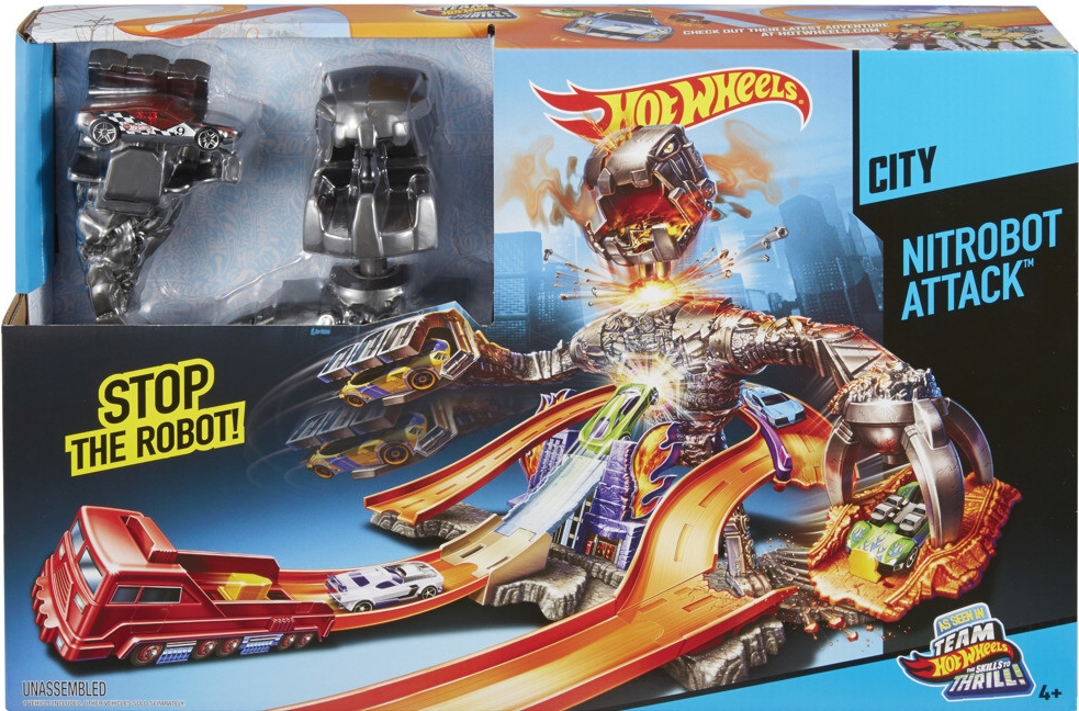 Mattel Hot Wheels dráha Carzilla útočí