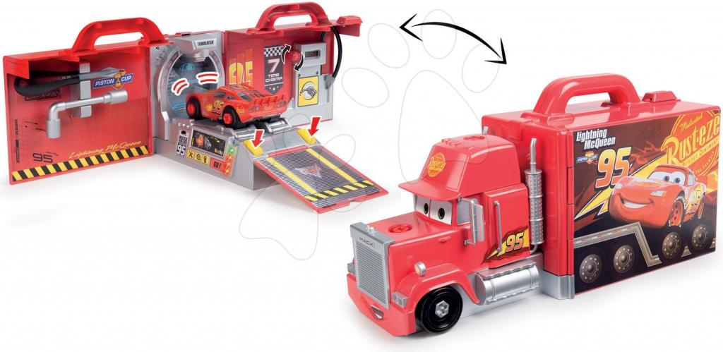 Smoby kamion s autíčkem Auta 3 Mack Truck elektronický 360146