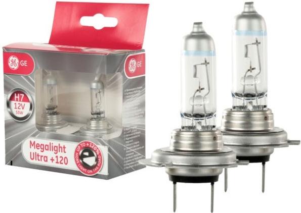 GE Lighting Megalight Ultra +120% 2 ks H7 PX26d 12V 55W