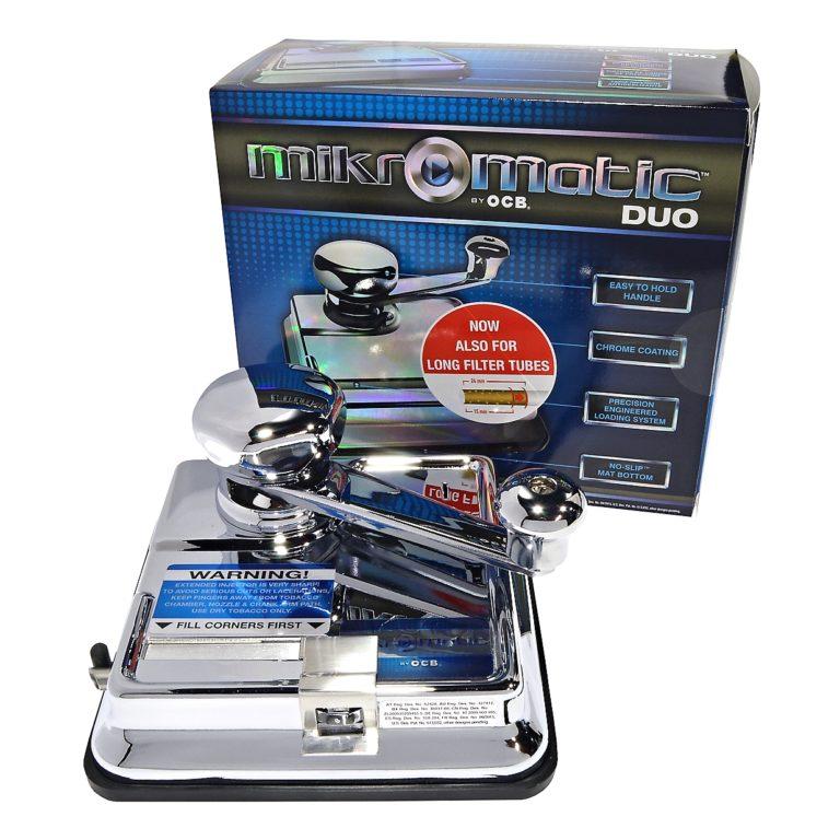 Cigaretová plnička dutinek kovová OCB Mikromatic Duo manuální