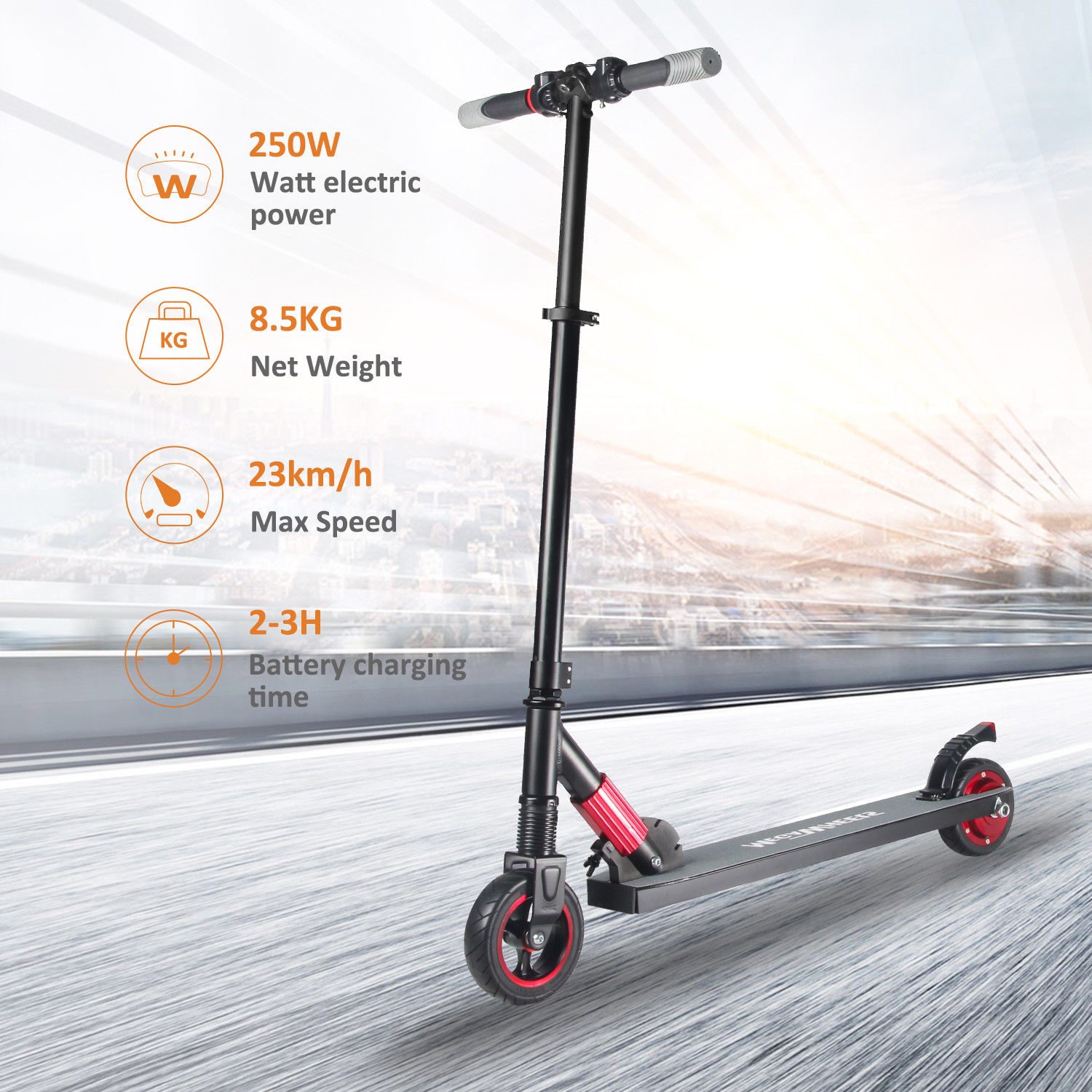 Megawheels S1 do 75Kg max 23Km/h