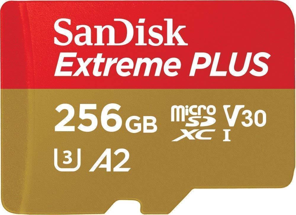 SanDisk Extreme PLUS microSDXC 256GB - 170MB/s R/90MB/s W, A2 C10 V30 UHS-I