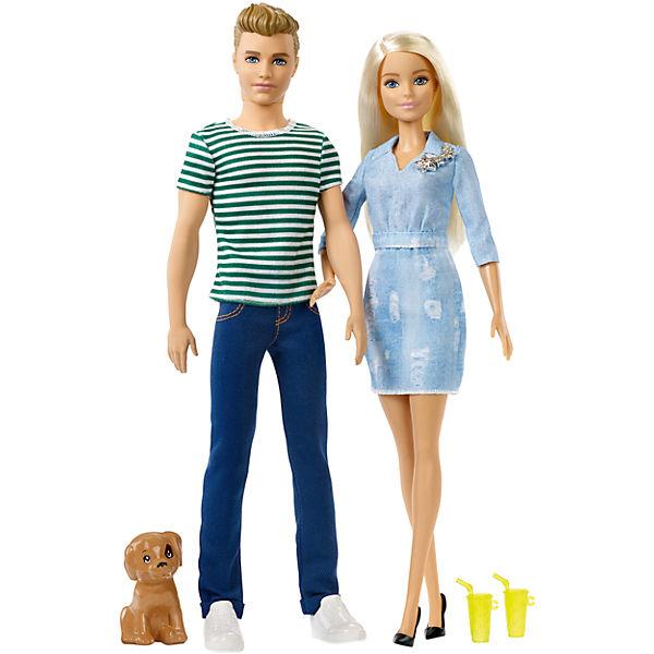 Mattel Barbie a Ken dárková sada se štěnětem