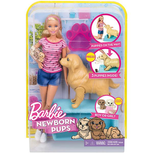 Mattel Barbie narození štěňátek