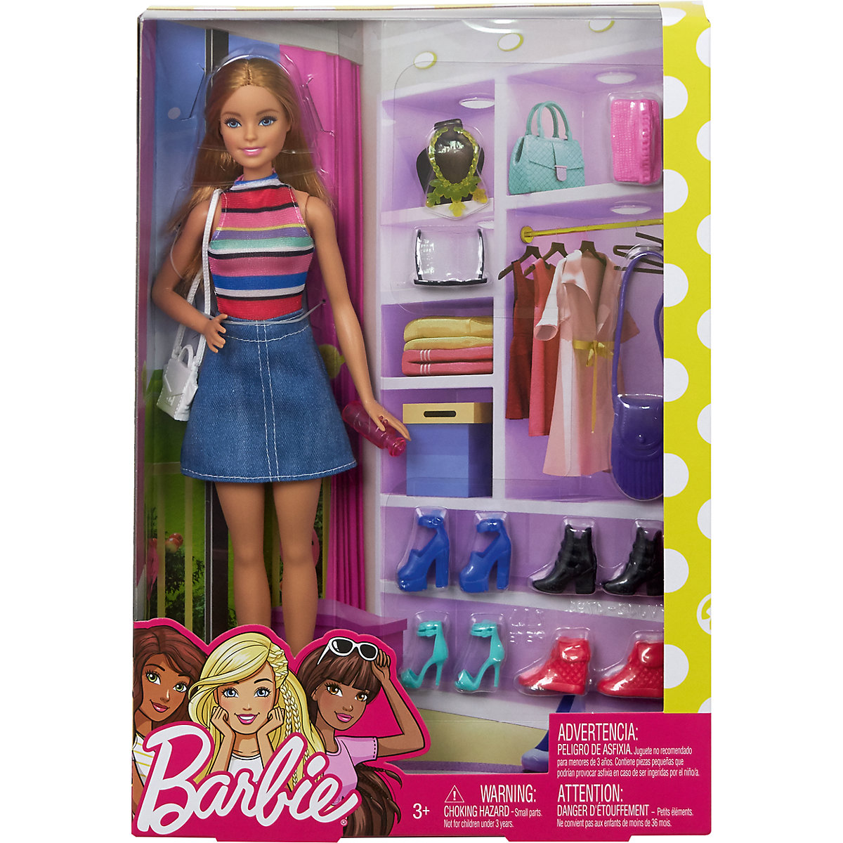 MATTEL Barbie módní šaty s 11 doplňky