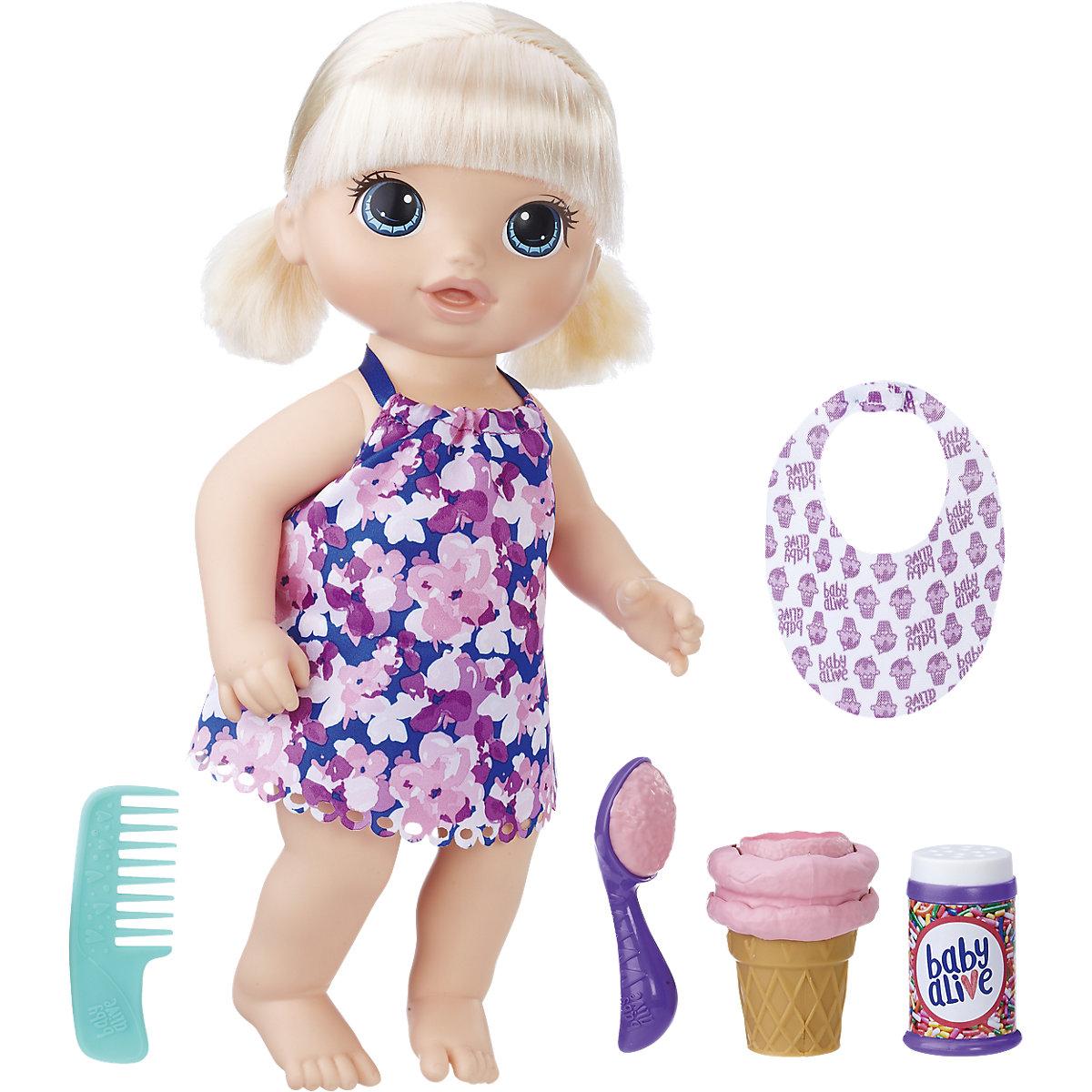 Hasbro Baby Alive blonďatá panenka se zmrzlinou