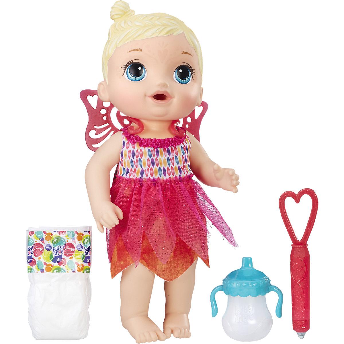 Hasbro Baby Alive blonďatá panenka s plenky a lahvičkou
