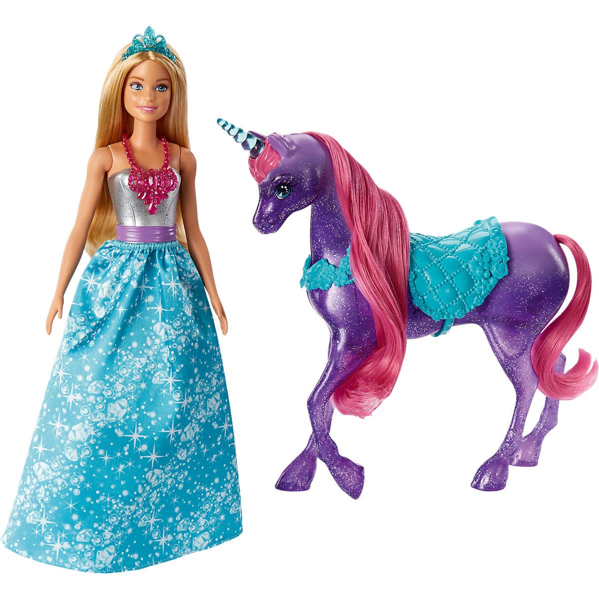 Mattel Barbie a kouzelný třpitivý jednorožec Dreamtopia