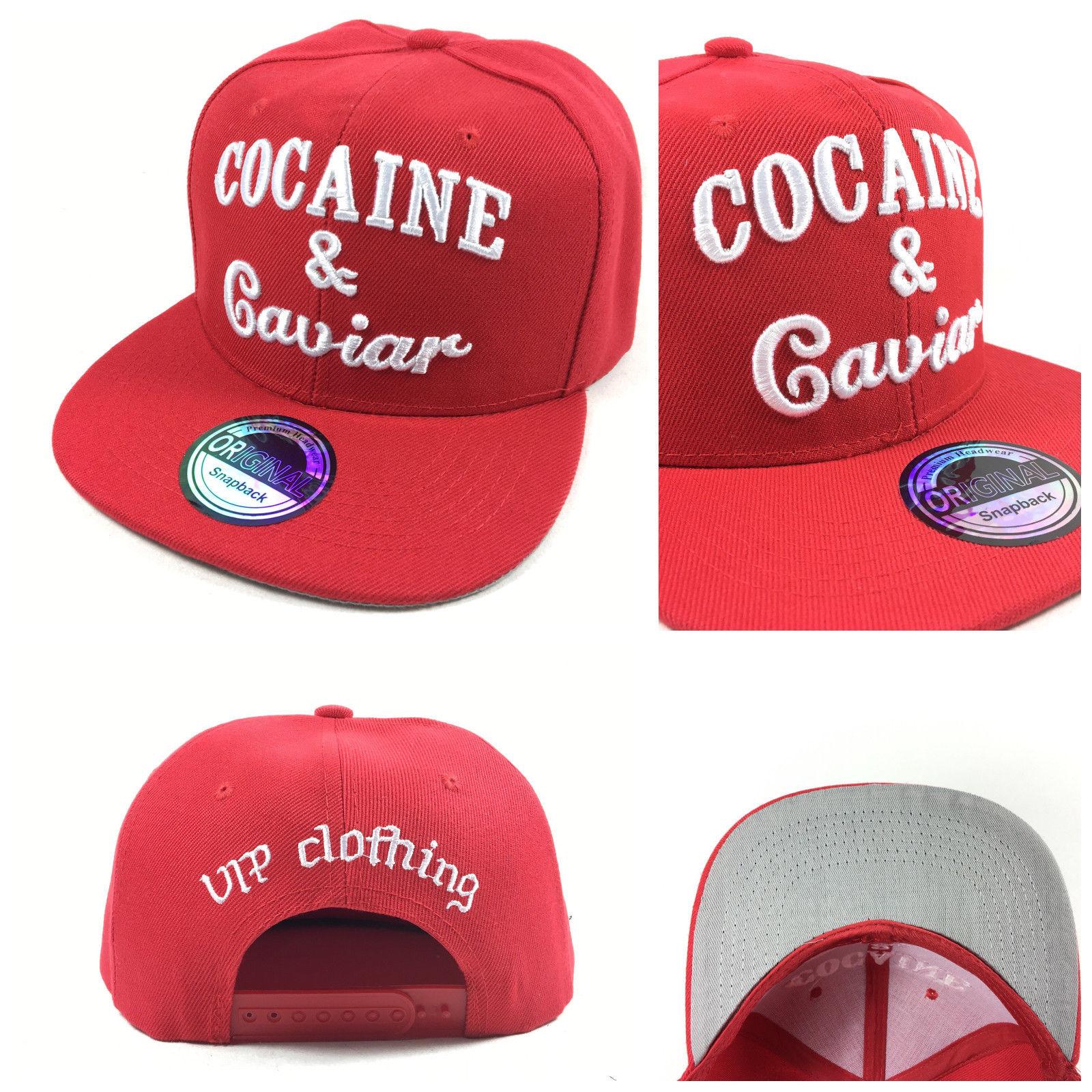 Cocaine & Caviar červená kšiltovka