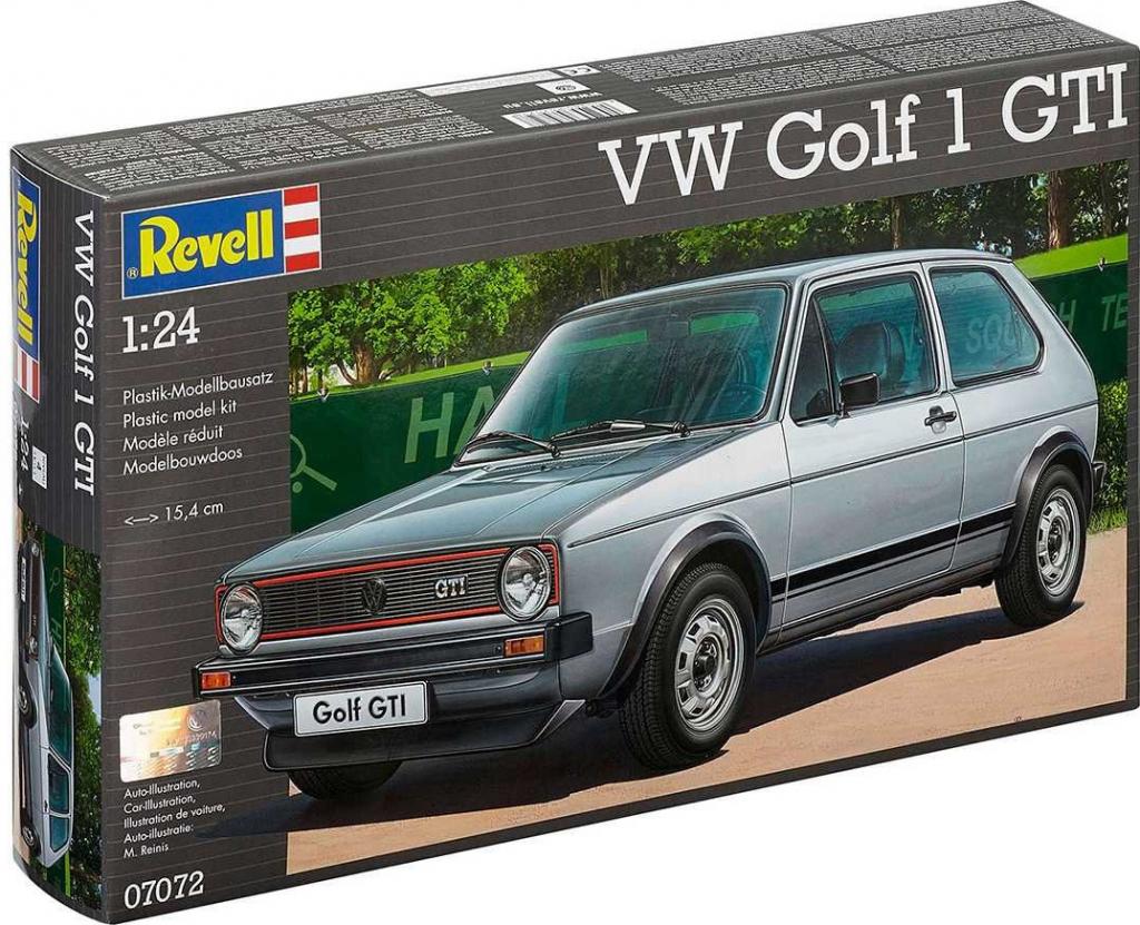 Model Kit Revell Plastic car 07072 VW Golf 1 GTI 1:24