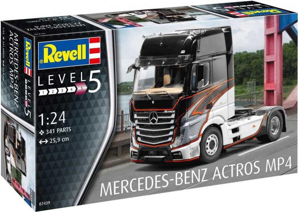 Model Kit Revell Plastic auto 07439 Mercedes Benz Actros MP4 1:24