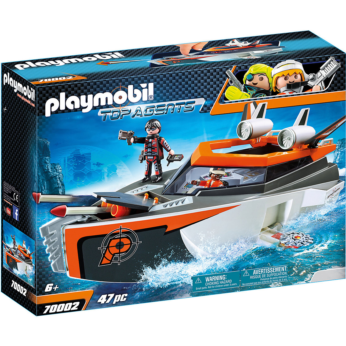 Playmobil 70002 Spy Team Turbo loď