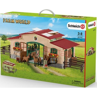 Schleich Farm Life Horse stable with accessories