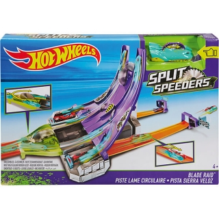 Hot Wheels Set Split Speeders dráha s pilou a autem