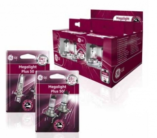 GE Lighting Megalight Ultra +50% 2 ks H7 PX26d 12V 55W