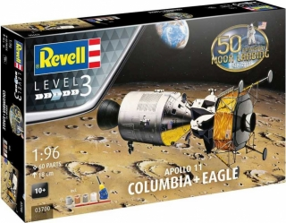 Revell Apollo 11 Columbia & Eagle 50 Years Moon Landing Gift Set 03700 1:96