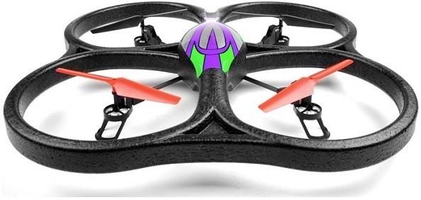 WL Toys RC kvadrokoptéra s kamerou, náhradní baterií, LED osvětlením, V262 UFO 2