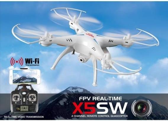 Syma RC dron X5Csw s FPV online přenosem přes WiFi