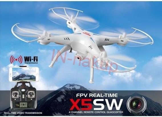 Syma X5Csw PRO - 40 minut letu - WiFi kamera s online přenosem - SYMA RC_44597
