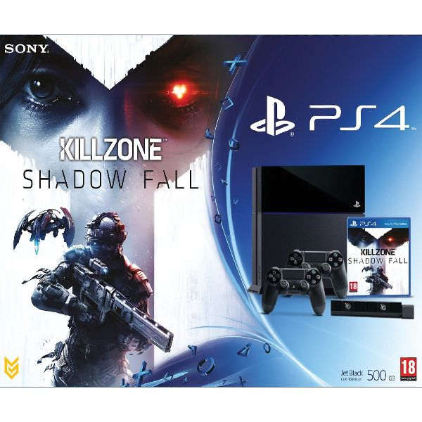 Sony PlayStation 4 500GB + 2x Dualshock Controller + Eye Camera + Killzone: Shad