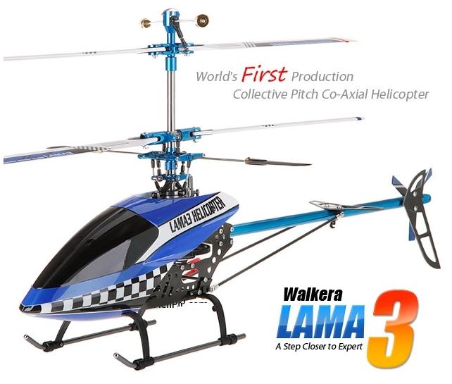 RC vrtulník Walkera Lama 3 Metal 4CH 2,4 GHz RTF