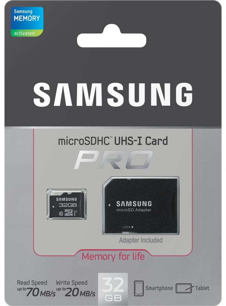 Samsung micro SDHC Pro 32GB UHS-I class 10