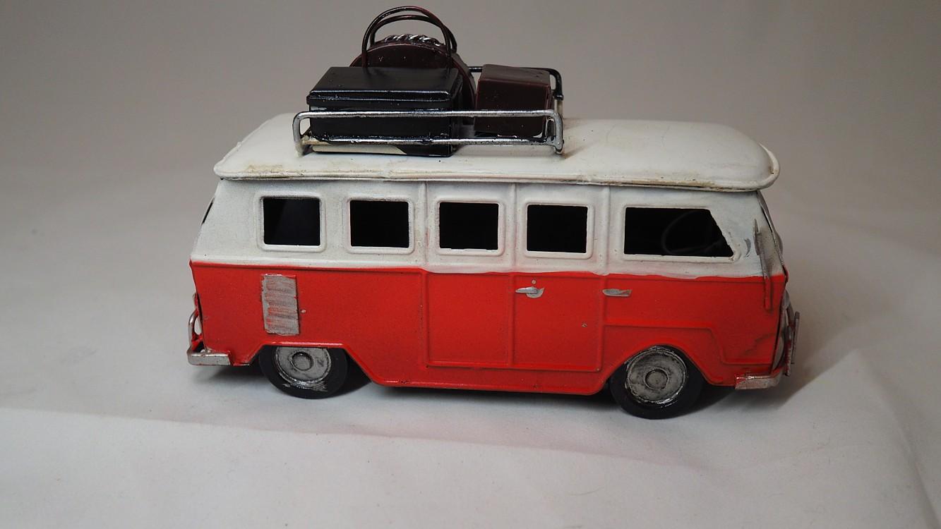 Dekorační VW oblíbený mikrobus dl. 18cm