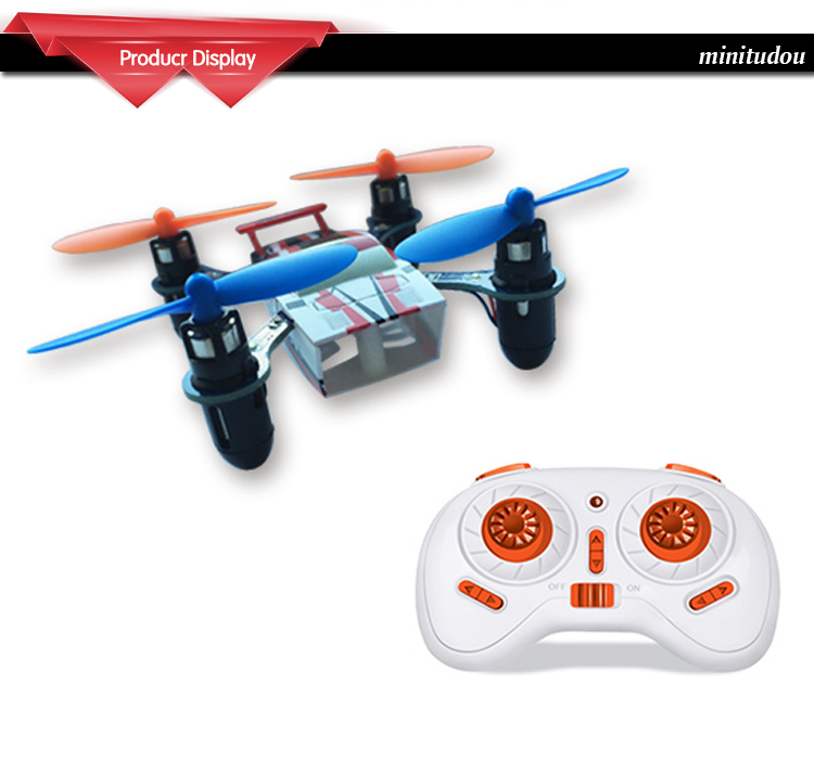 U107 MINI RC QUADCOPTER BLUE - RTF, 4CH, 2,4 GHZ, GYRO