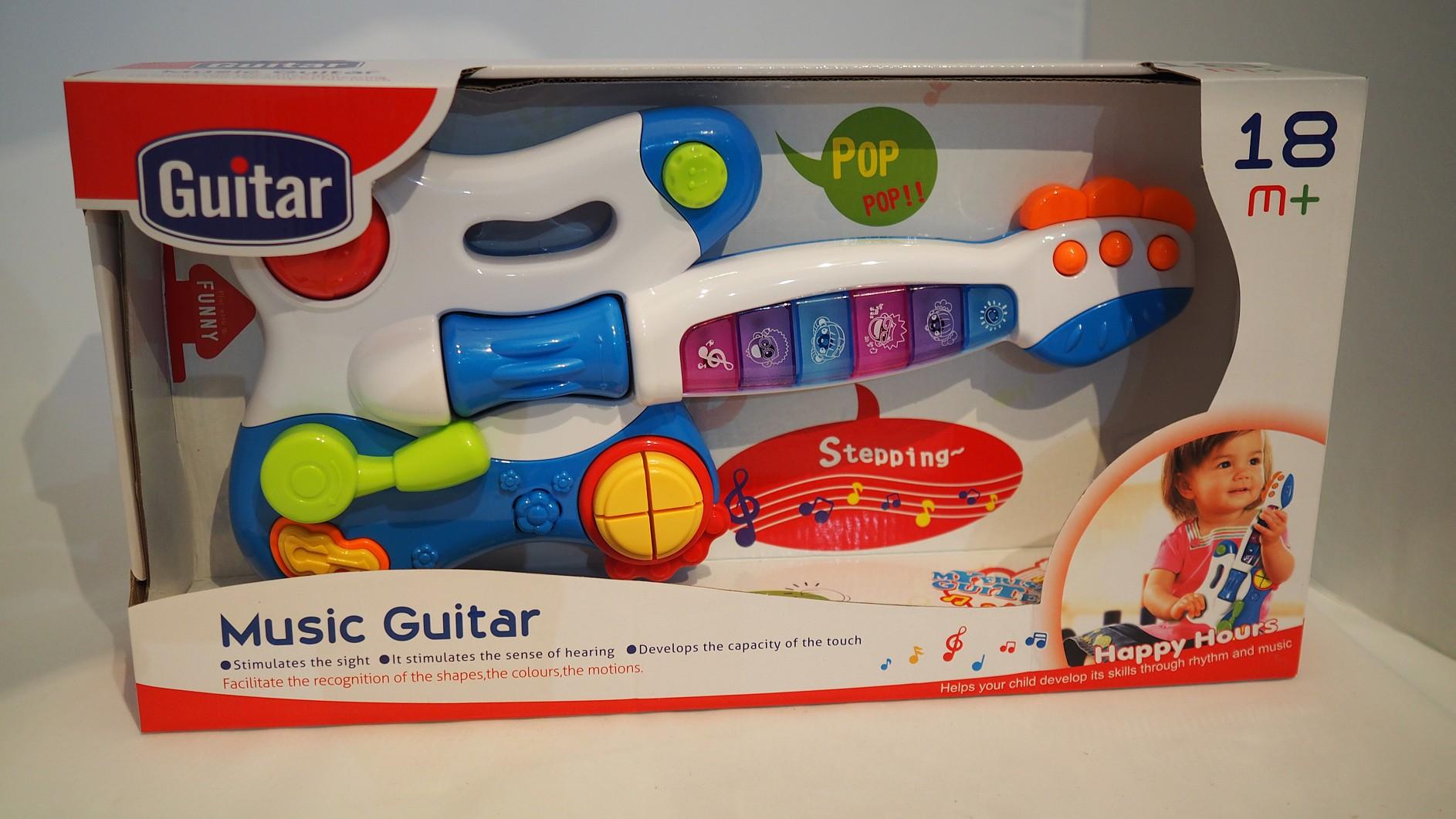 Hudební kytara pro nejmenší  bílo-modá