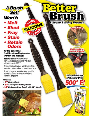 Sada 3 ks silikonových mašlovaček Better Brush