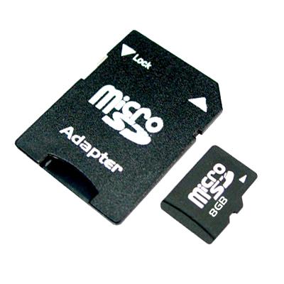 Micro SDHC 8GB + SD adaptér
