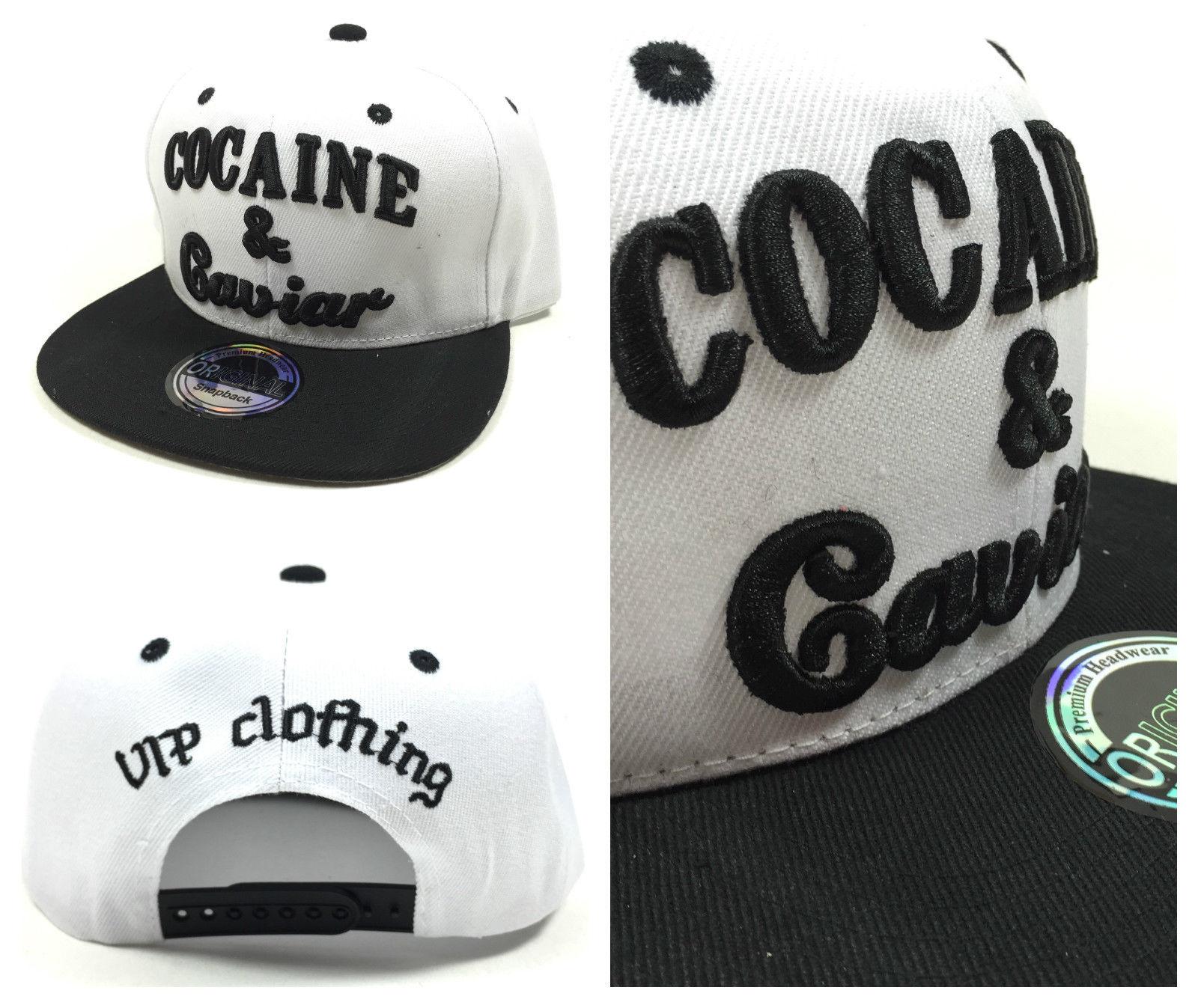 Cocaine & Caviar černobílá kšiltovka