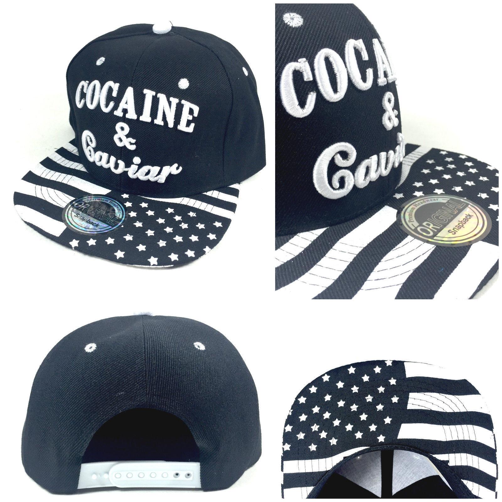 Cocaine & Caviar vlajka kšiltovka