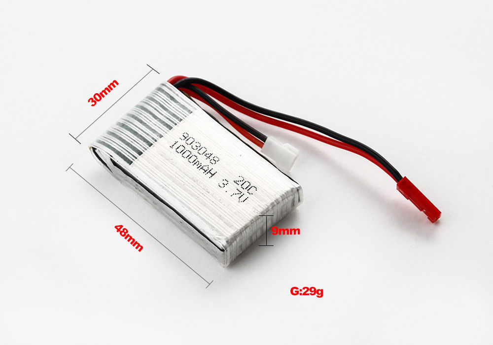 Baterie Li-Pol 1000mAh 3.7V (pro SYMA X5C)