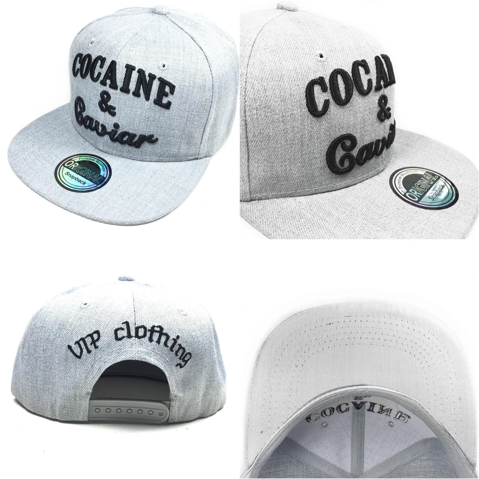 Cocaine & Caviar šedá kšiltovka
