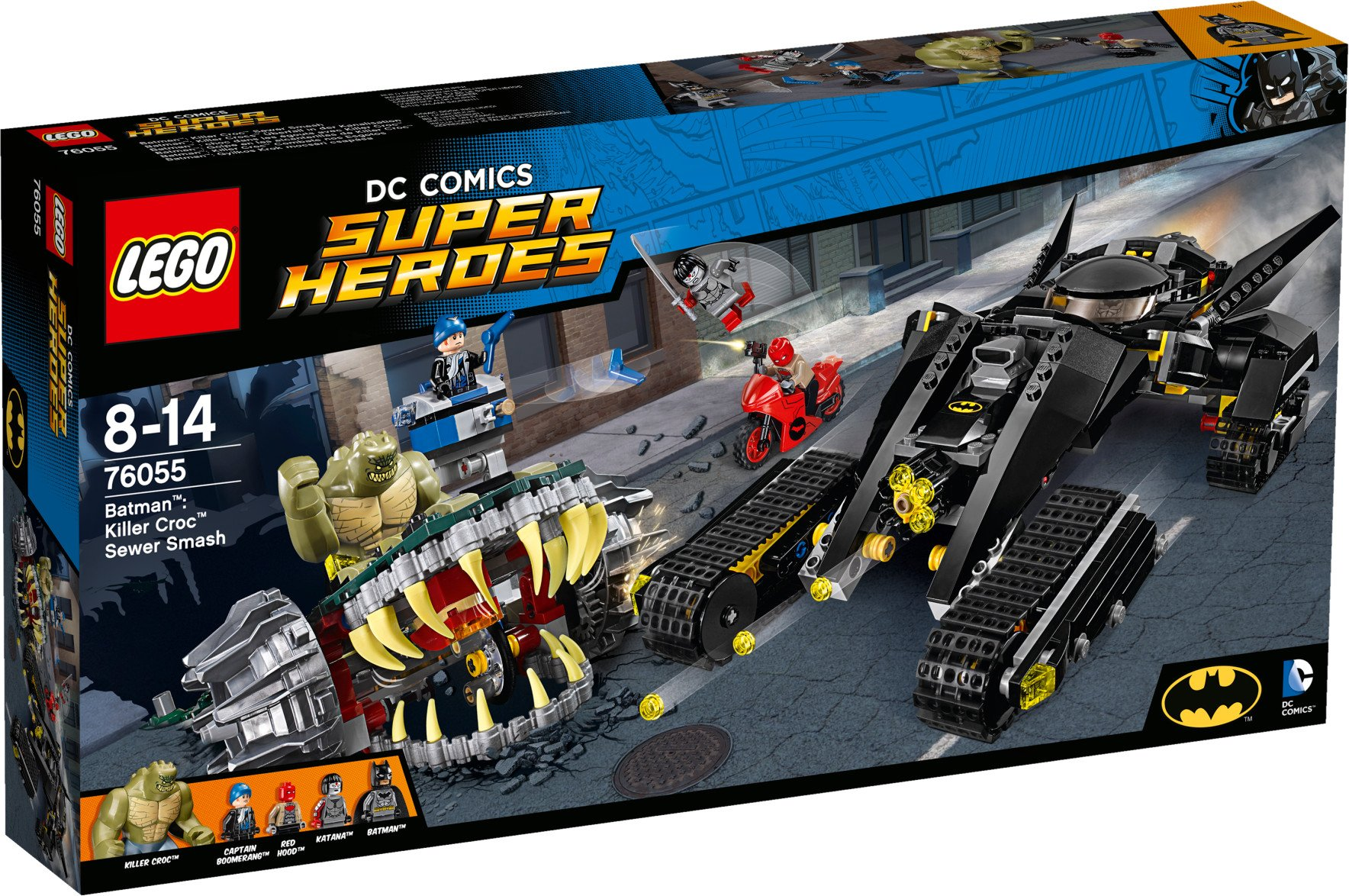 Lego Super Heroes 76055 Batman: Zničení ve stokách
