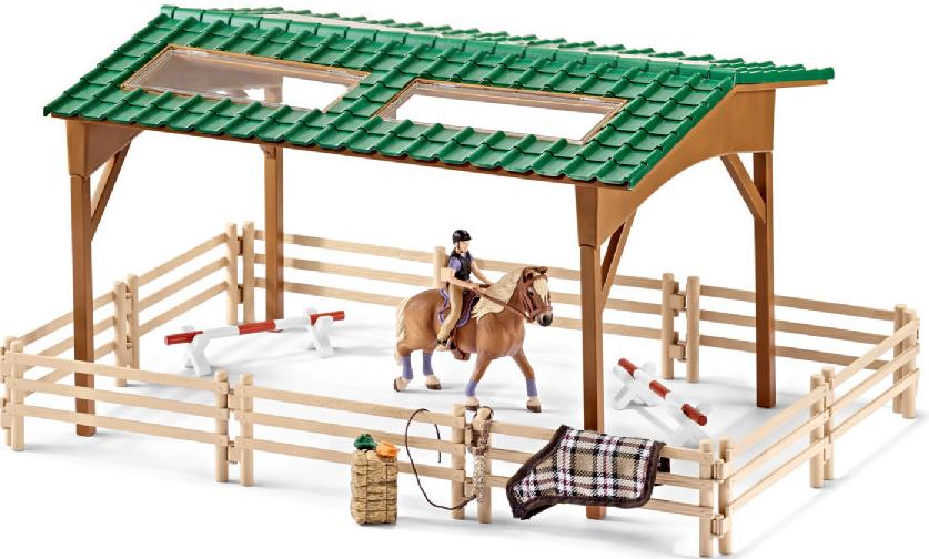 Schleich Set jezdecký areál s koněm a příslušenstvím
